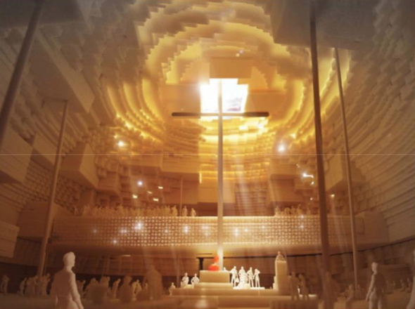 Herzog and De Meuron planean construir catedral de tierra seca en México