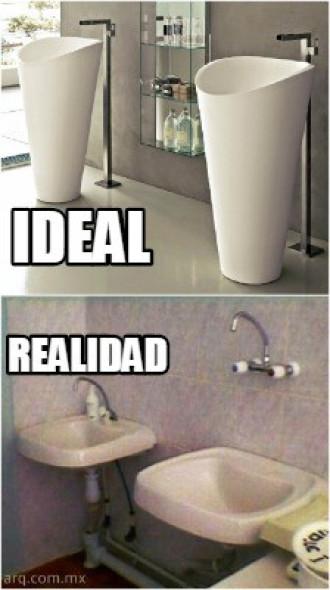 Humor en la arquitectura. Diferencia de ideal y realidad
