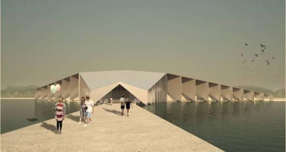Centro cultural sobre el agua
