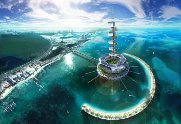 Isla artificial en Cancún al estilo de Dubaí. Grand Cancun Eco Island