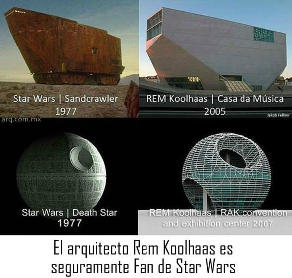 Humor en la arquitectura. Para los fans de Star Wars