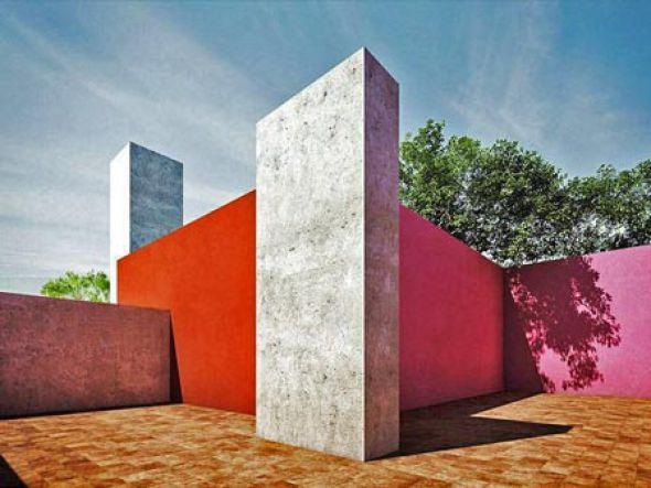 La representación de volumen y color es Luis Barragán