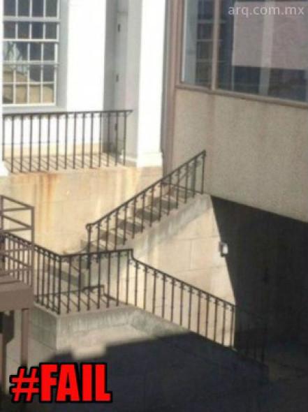 Humor en la arquitectura. Escaleras clausuradas