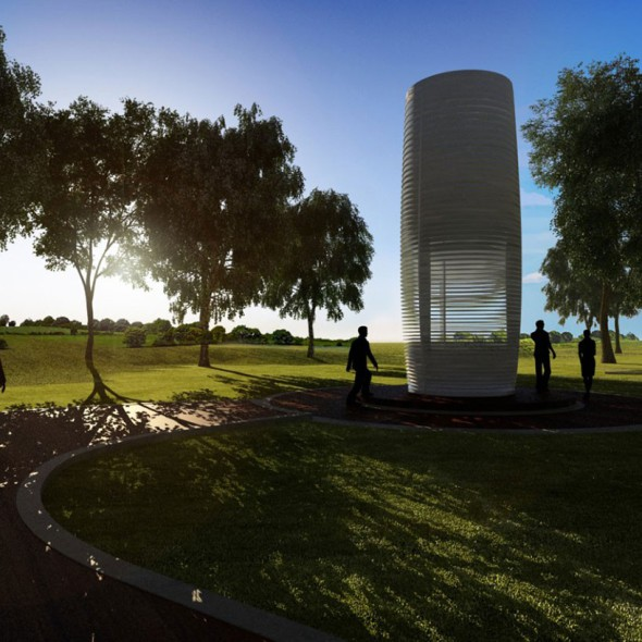 Torre antismog. Purificador de aire a gran escala