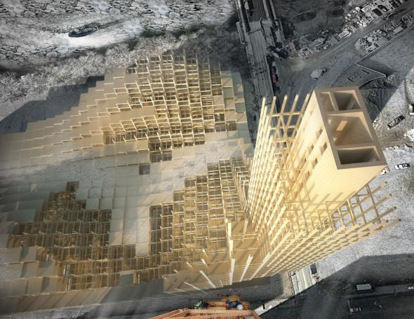 Torres de madera podrían no estar tan lejos de la realidad