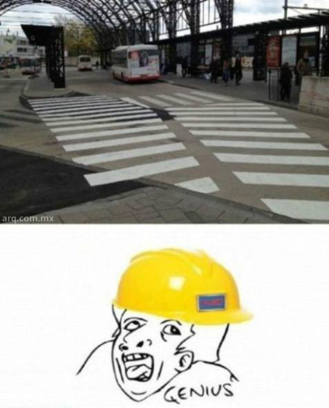 Humor en la arquitectura. El mejor cruce peatonal del mundo