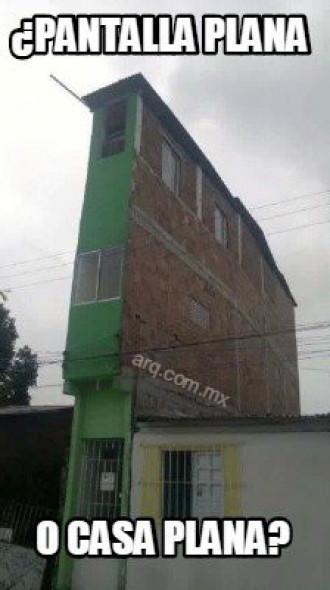 Humor en la arquitectura. Casa plana
