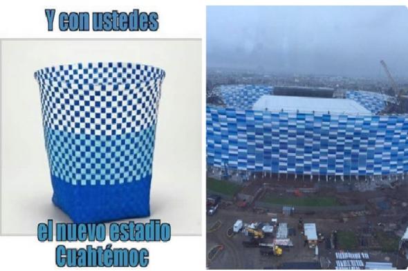 Humor en la arquitectura. Estadio Cuauhtémoc
