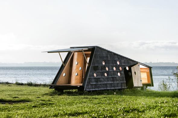 Refugios de madera para recorrer las islas de Dinamarca