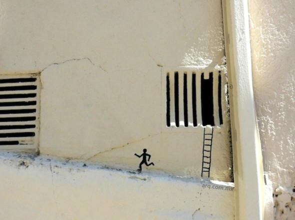 Humor en la arquitectura.Perspectiva de fuga