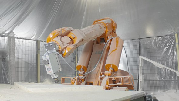 Albañiles metálicos y arquitectura algorítmica. Así es un edificio fabricado por robots