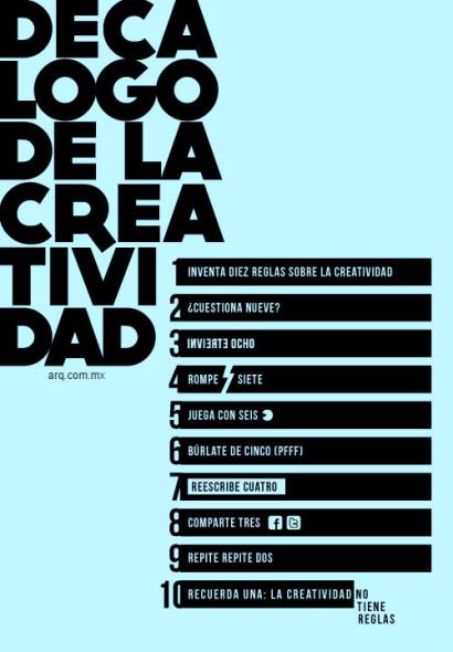 Decálogo de la creatividad
