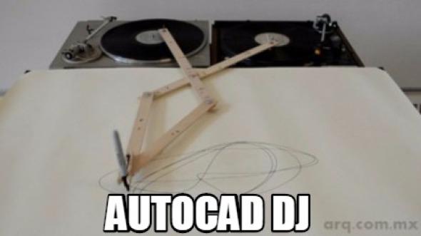 Humor en la arquitectura. AutoCAD DJ