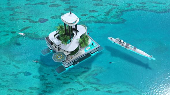 Casas flotantes de lujo