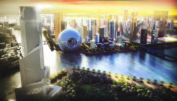 La estrella de la muerte de Star Wars aterriza en Dubai. Rem Koolhaas