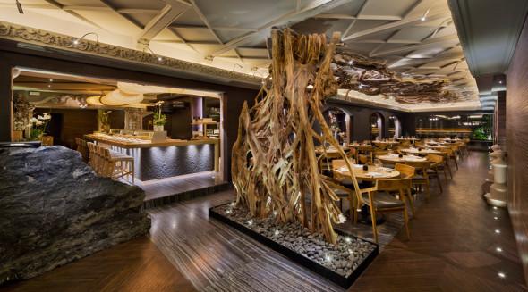 Restaurante de elementos naturales