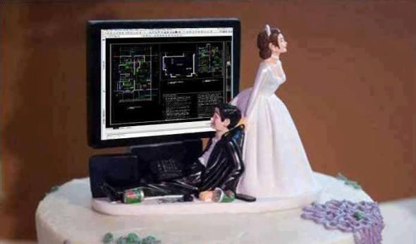 Humor en la arquitectura. Matrimonio arquitectos
