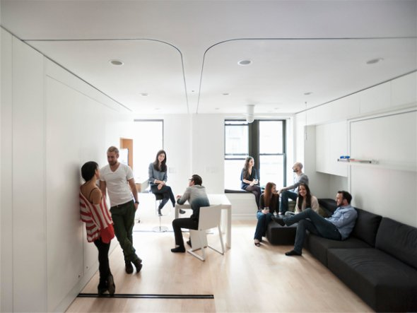 Un apartamento de 40 metros cuadrados desafía las leyes del espacio