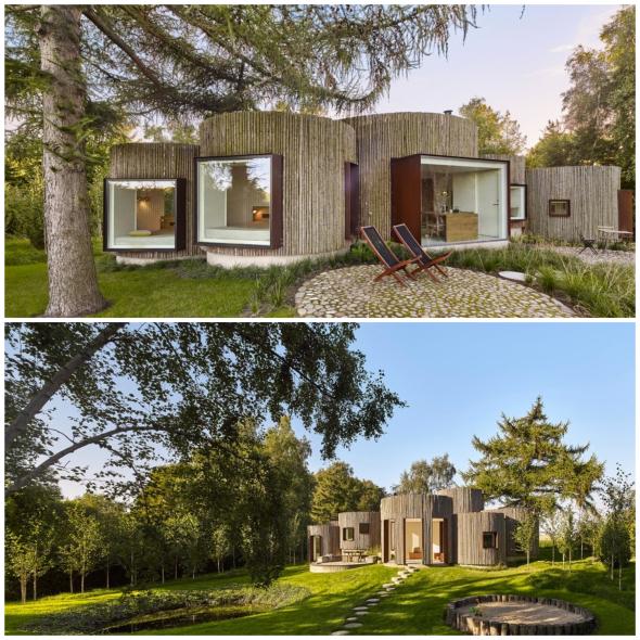 Una casa hecha a base de círculos