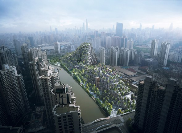 Planean edificar una montaña de concreto en Shanghái