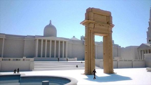 Hacen una réplica en 3D del Arco de Triunfo de Palmira Destruido durante la Guerra