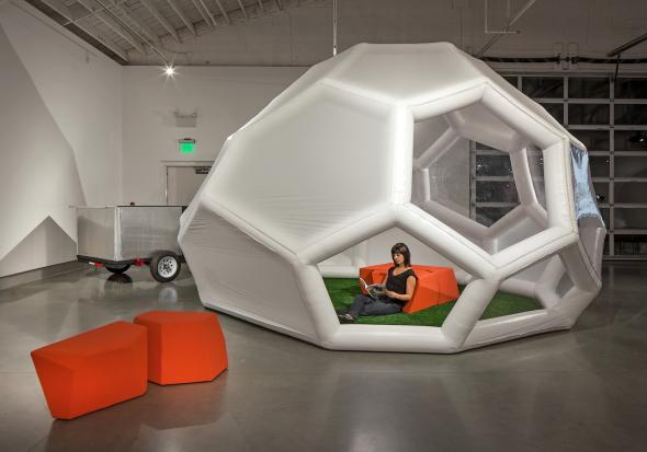 Arquitectura inflable que los arquitectos quieren tener