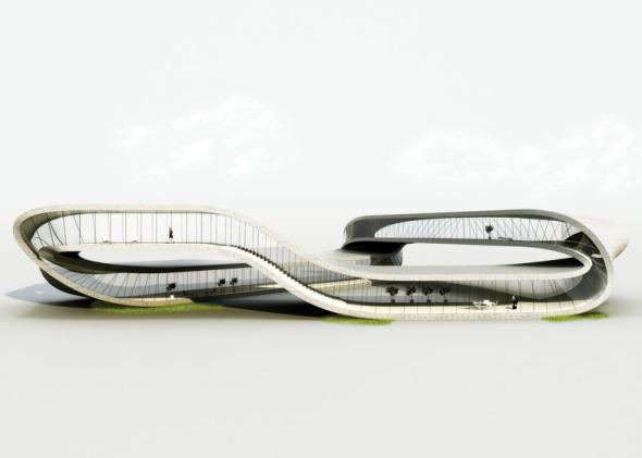 Un edificio sin fin construido mediante impresión 3D