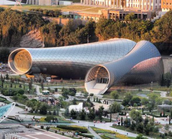 Sala de conciertos futurista