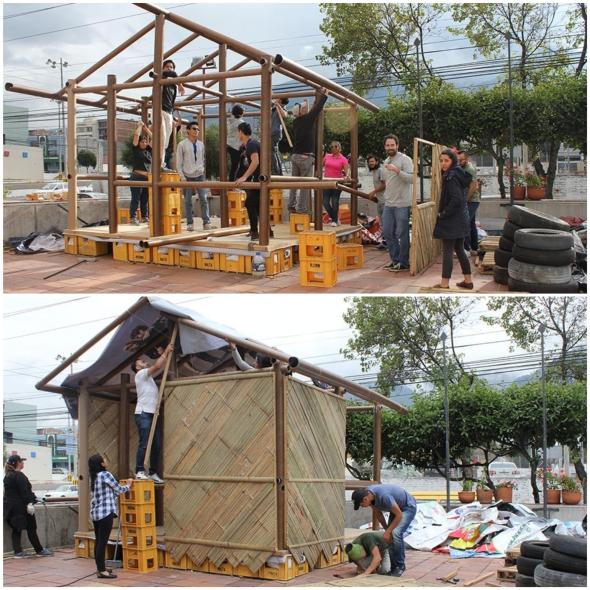 Primer Prototipo de Refugio Temporal por Shigeru Ban en Ecuador