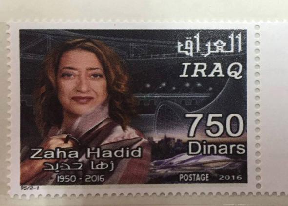 Rinden tributo a Hadid con timbre postal