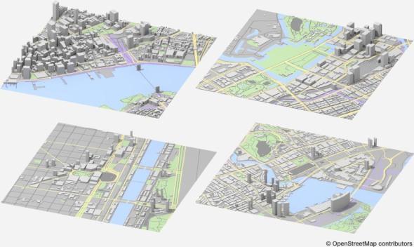 Archivos CAD gratuitos de las 241 ciudades principales del mundo
