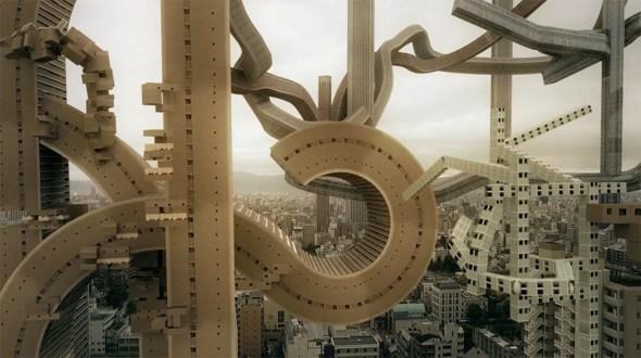 Cortometraje de la Ciudad de Osaka Transformanda en un mundo donde la Arquitectura crece orgá...