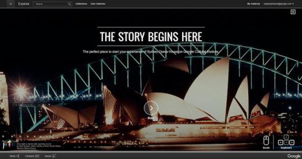 Espacio virtual de Google para explorar la Casa de la Ópera de Sídney