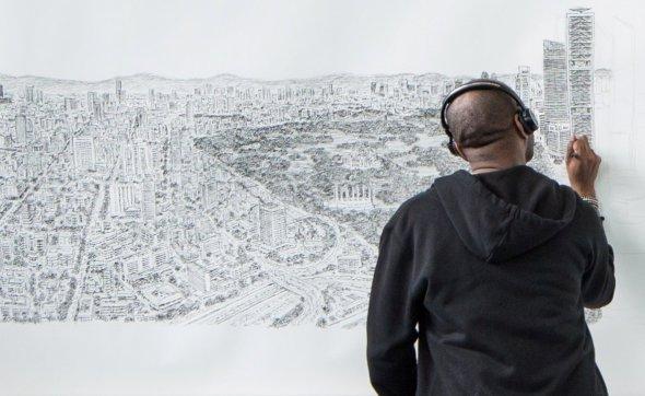 Stephen Wiltshire dibuja la Ciudad de México de Memoria