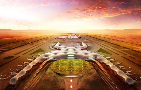 Presentan tres ofertas para construir el edificio terminal del NAICM