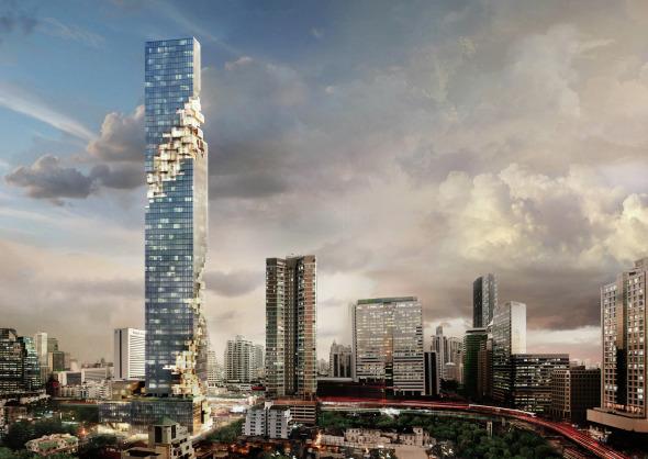 El Mahanakhon, la nueva locura arquitectónica de Ole Scheeren en bangkok