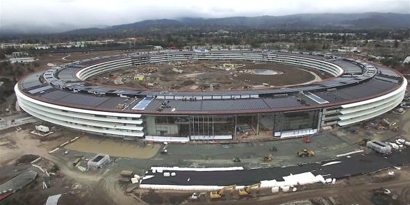 Este es el primer video de los avances del Campus 2 de Apple en el 2017