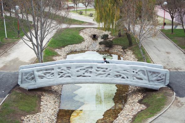 El primer puente impreso en 3D en todo el mundo se encuentra en Madrid
