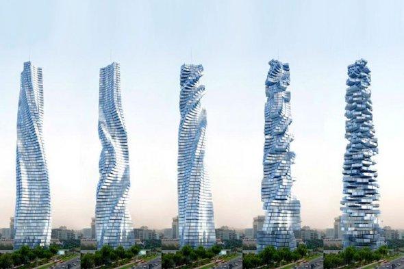 Construirán el primer rascacielos giratorio en Dubái