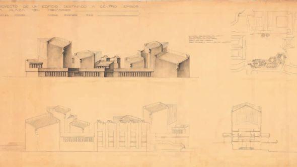 el mtodo de trabajo habitual era dibujar a lpiz sobre papel de croquis en el caso del arquitecto navarro sin llegar a utilizar