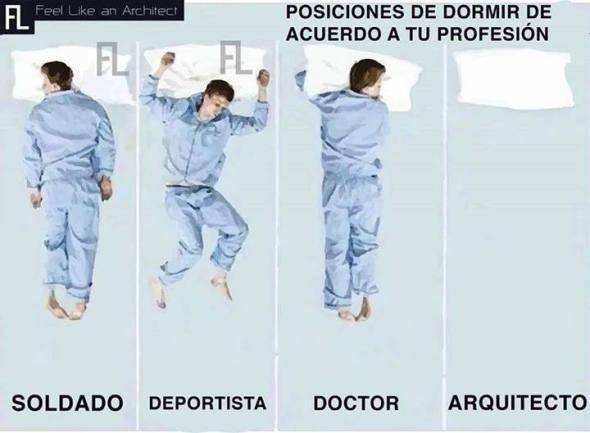 Humor: La mejor postura para dormir de los Arquitectos
