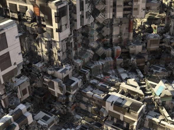 El arquitecto de estas monstruosas ciudades alienígenas es un algoritmo