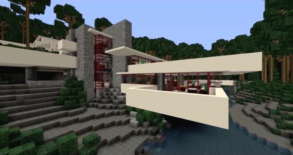 Cinco casas de Frank Lloyd Wright recreadas en Minecraft a todo detalle