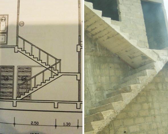 Humor en la Arquitectura: Escaleras en corte