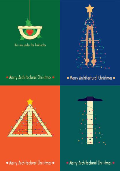 Postales navideñas arquitectónicas