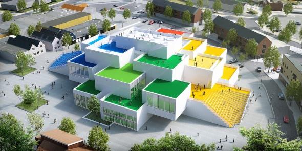 LEGO House, un edificio construido con 21 ladrillos blancos
