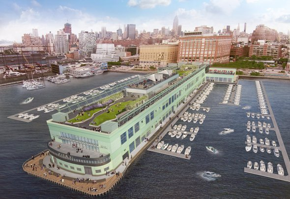 El muelle que será la sede de Google