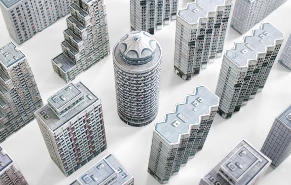 Para el niño que todos los arquitectos llevamos dentro: edificios para recortar
