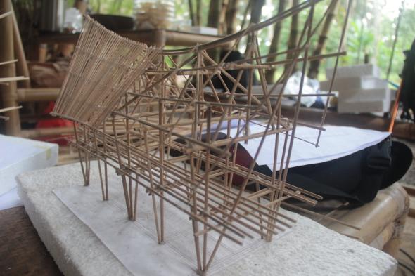 Maquetas de bambú