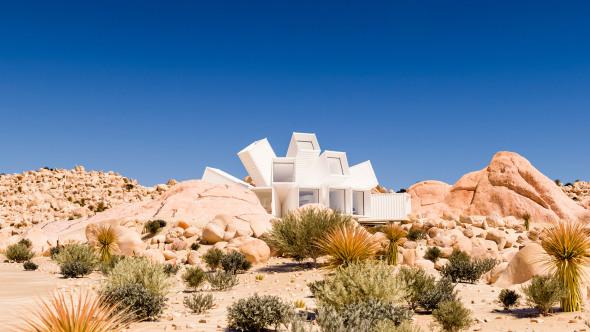 Una flor del desierto construida con contenedores